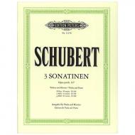Schubert, F.: Violasonaten (Sonatinen) Op. posth. 137/1-3