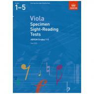 ABRSM: Viola Specimen Sight-Reading Tests – Grades 1-5 (From 2012)
